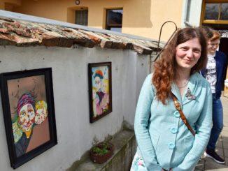Malířka Marie Čmelíková nafestivalu Husovickýdvorek | Foto: ErikMěkyna