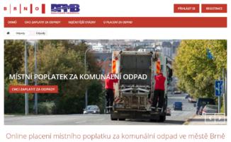 Placení odpadů online